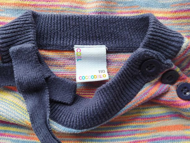 Sweter cienki koszulka bliźniaczki Coccodrillo 110