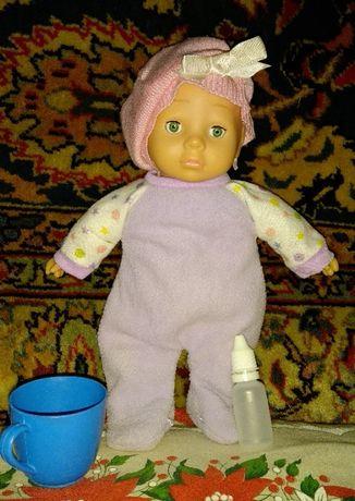 Кукла пупс мягконабивной с пищалкой 31см