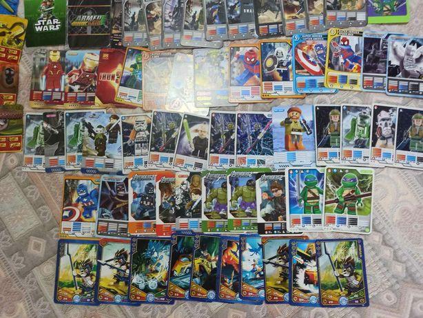Карточки Лего . Звездные войны, Супер-герои , военные и др.