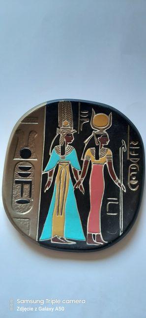 Gipsowy talerz motyw egipt