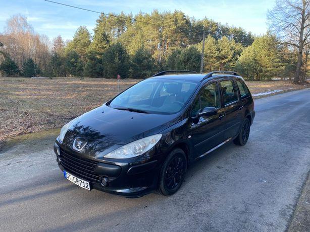 Peugeot 307SW Lift klima nowe opony benzyna 1.6 czarny okazja tanio!