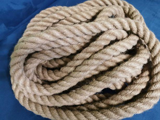 10 metrów Lina jutowa sznur juta skręcana MOCNA 15mm