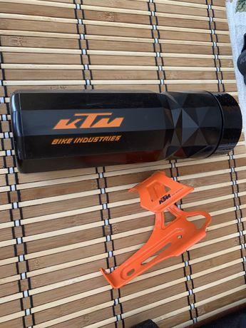 KTM Uchwyt rowerowy  na bidon z bidonem SUPER