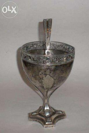 Серебряная ваза, чаша, 18-нач.19-го в.