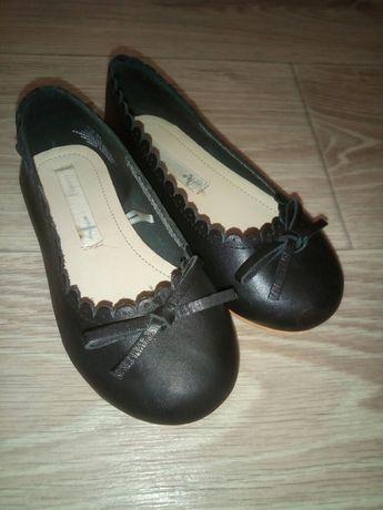 кожанные туфли балетки hm 24 р, 15.5 см стелька