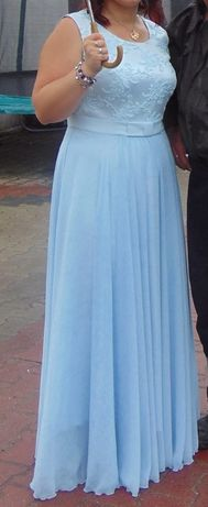 długa suknia wieczorowa lub na ślub cywilny