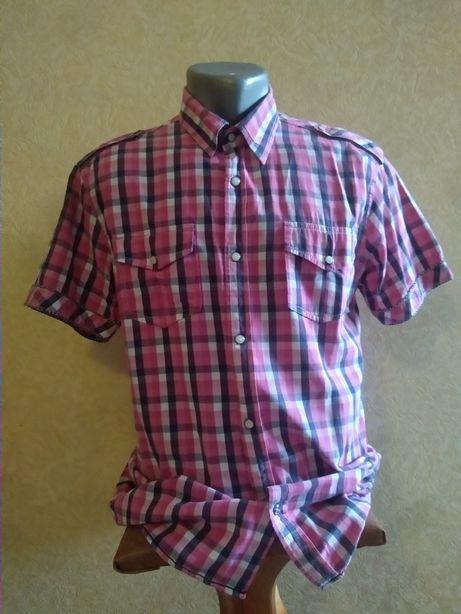 Мужская рубашка на короткий рукав