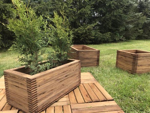 Doniczka ogrodowa do kwiatow iglakow doniczka drewniana z drewna donid