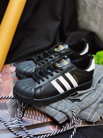 Кроссовки черные Adidas Superstar Black Адідас Суперстар!!