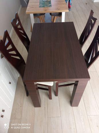 Solidny stół + 4 krzesła WENGE