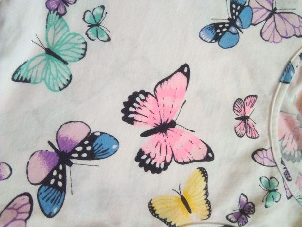 Sukienka w motyle H&M 122/128