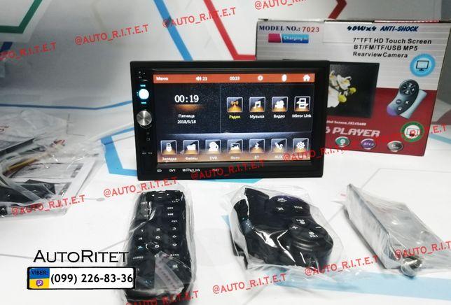 """Автомагнитола с экраном Pioneer-7023 / 7""""Дюймов / FullHD/ microSD/ AUX"""