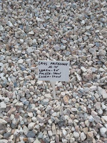 Grys Pastelowy 16-35mm, kamienie ozdobne, otoczaki