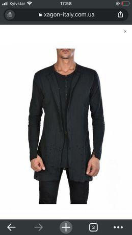 Черный мужской xagon дизайнерский рваный кардиган кофта
