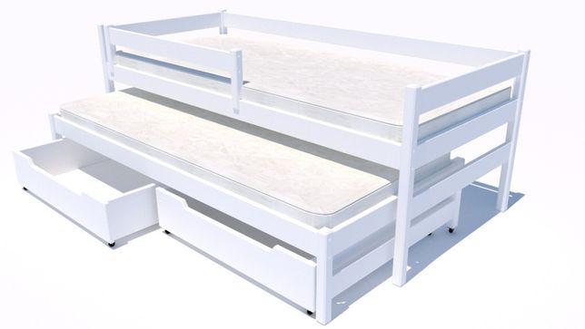 Łóżeczko drewniane dwuosobowe dla dziecka Maxi Premium