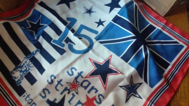 платок на шею разные страны статуя свободы звезды флаг