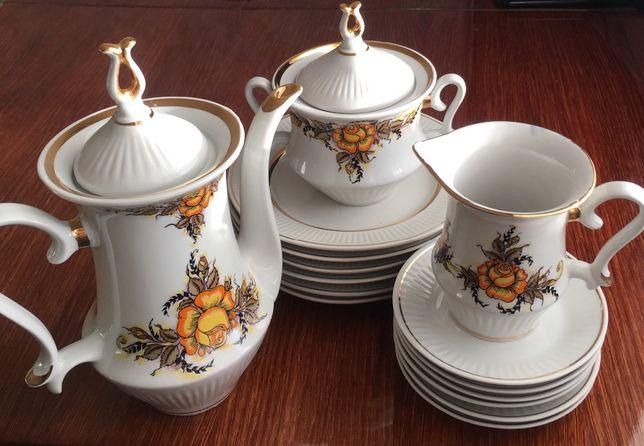 Новый кофейный/чайный сервиз с десертными тарелками, ссср, без чашек