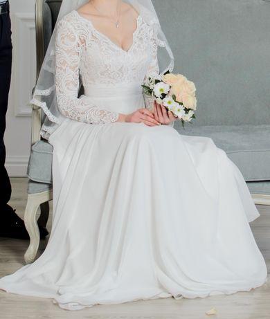 Свадебное платье цвет Айвори,весільна сукня.Реальному покупателю скидк