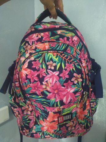 Plecak szkolny St.Right jak nowy , kwiaty