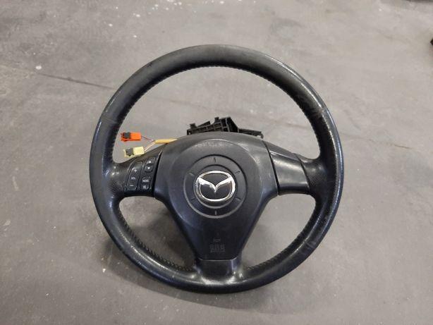 Kierownica multifunkcja Mazda 3 -04r Kompletna jak na zdjeciu