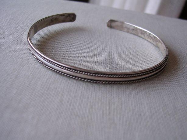 Stara bransoletka srebrna kółko srebro