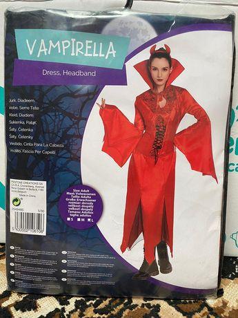 Stroj wamipra wampirella halloween rozmiar L nowy