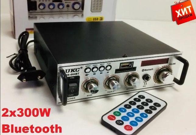 Усилитель звука Bluetooth UKC 2 х 300w +караоке