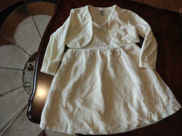Нарядное платье на девочку с болеро,цвет айвори 98р