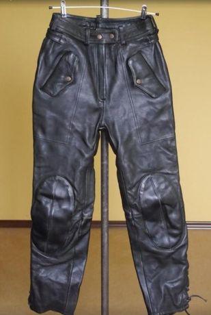Мото штаны байкер брюки натуральная кожа чёрные