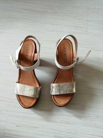 Sandałki Lasocki Białe r. 36