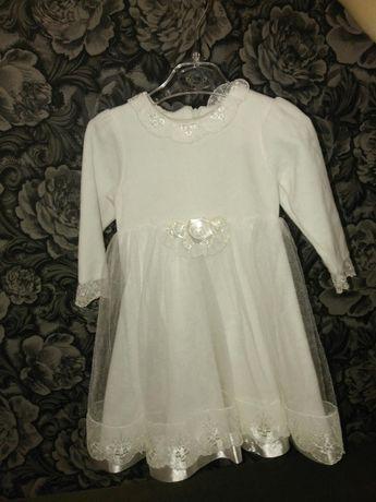 Нарядное платье. 74-86 размер