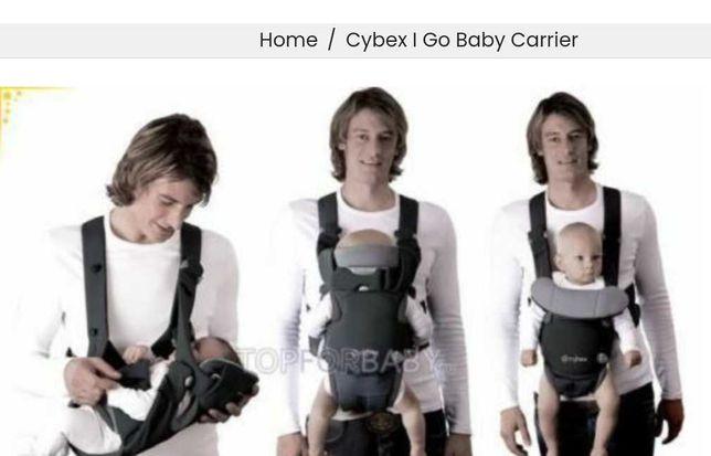 """Mochilas """"Cybex iGo"""" para carregar o bebê na posição horizontal"""