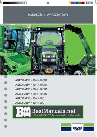 Podręcznik warsztatowy Deutz Fahr Agrofarma 410, 420, 430 PL