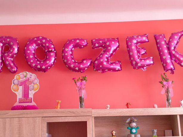 Dekoracja na roczek dla dziewczynki