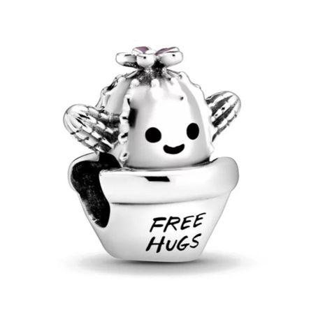 Kaktus FREE HUGS charms do Pandora srebrny