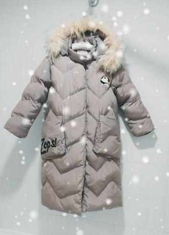 Непродуваемая очень теплая куртка на меху 9-10 лет GRACE