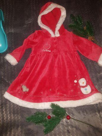 Sukienka Mikołajki świąteczną ubranko Mikołajki sesja zdjęciowa