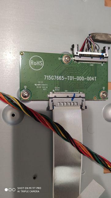 Плата LVDS, t-con 715G7665-T01-000-004T от philips 48pft4101/12