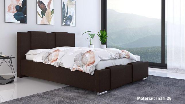 Łóżko tapicerowane LUX 6 140x200 Stelaż + pojemnik na pościel