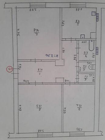 Продам квартиру с автономкой 3-х комнатную
