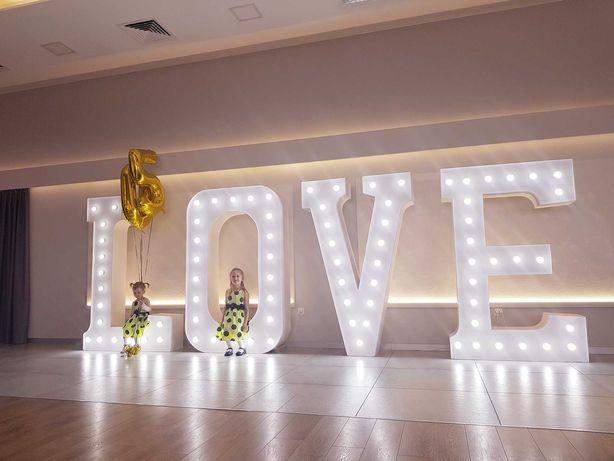 wielkie LOVE podświetlane 1,9m! wesele ślub napis zaręczyny rocznica