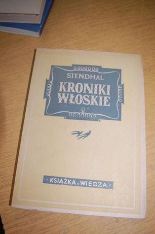 """Książka """"Kroniki włoskie"""" Stendhal"""