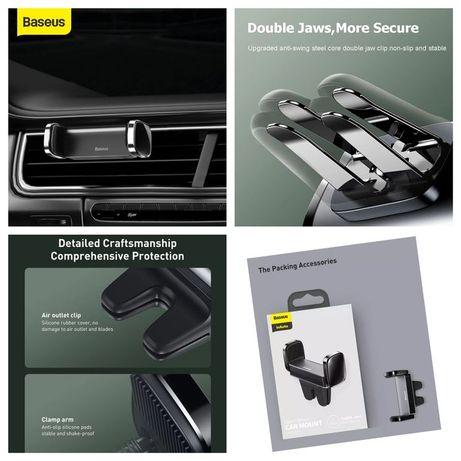 Suporte Smartphone para carro (saída de ar) - Baseus -24h
