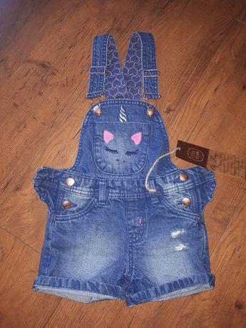 Ogrodniczki jeans r.104 Coolclub NOWE