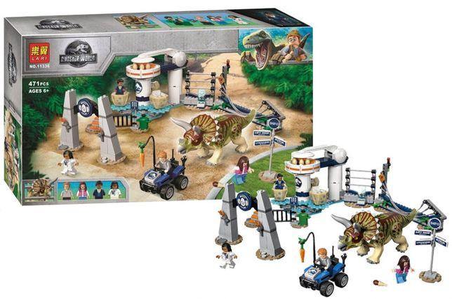 Конструктор Lari 11336 Нападение трицератопса 75937 LEGO Jurassic