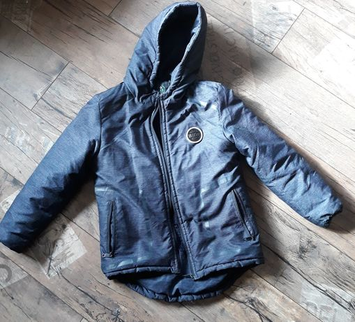 Kurtka zimowa 134+czapka+bluza H&M gratis