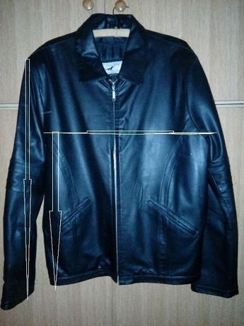 Skórzana czarna kurtka z podpinką rozmiar L