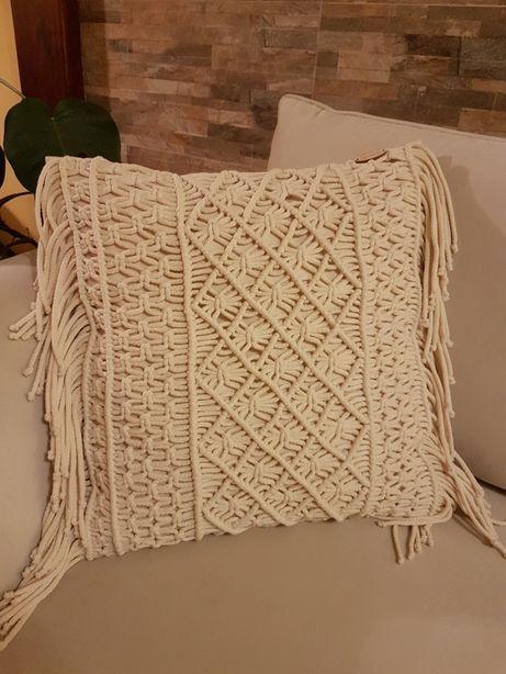 Poduszka Boho Macrame ze sznurka bawełnianego