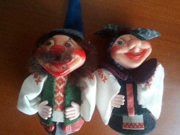 набор куклы Он и Она Ласкаво просимо фабрика Сувенир Киев 1992 год