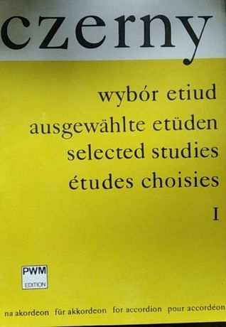 Czerny wybór etiud na akordeon - I - opr. W. Kulpowicz Nuty PWM 1985 r